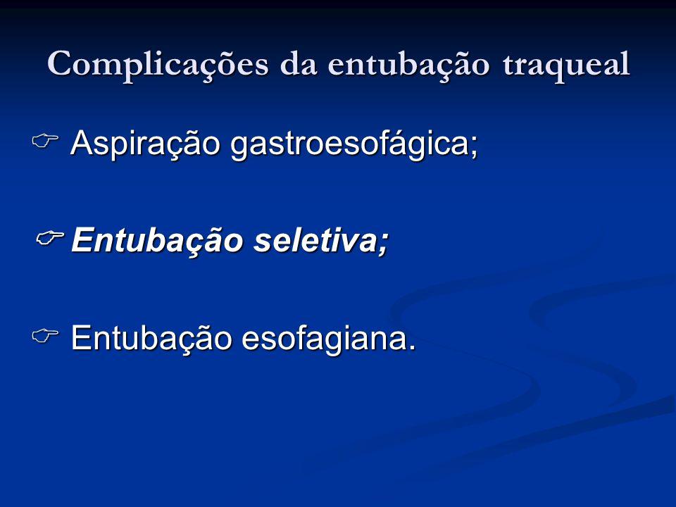 Complicações da entubação traqueal