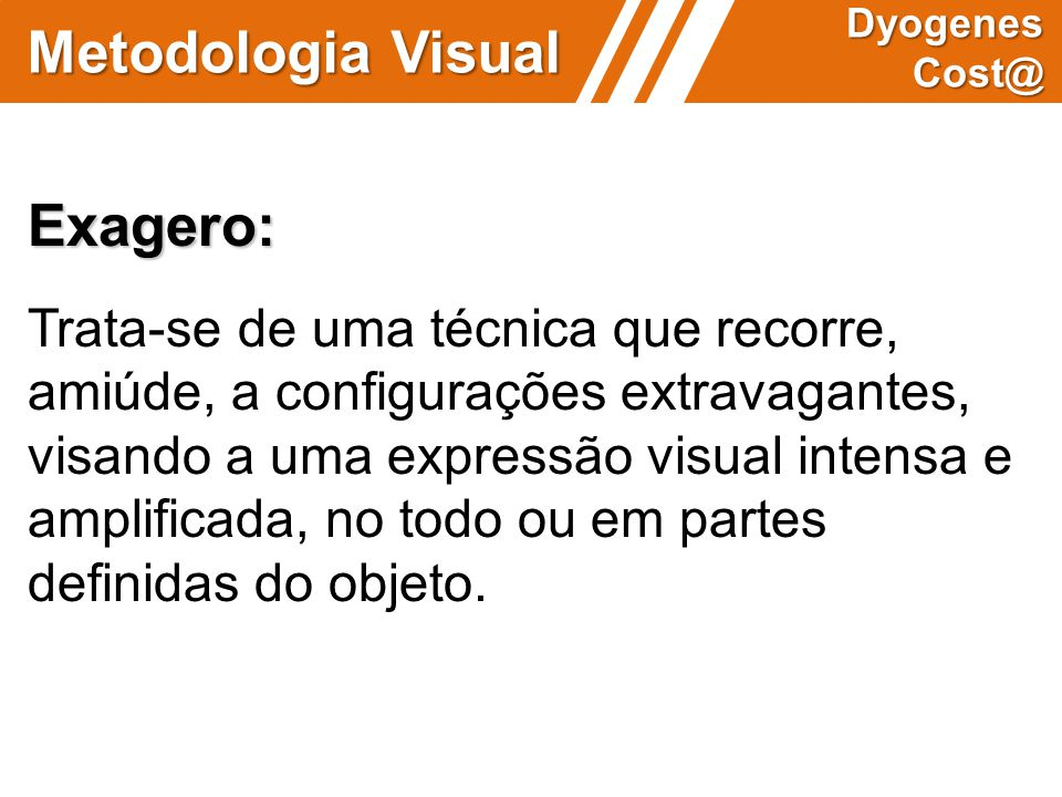 Metodologia Visual Exagero: