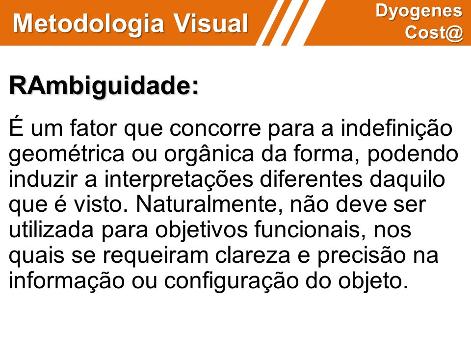 Metodologia Visual RAmbiguidade:
