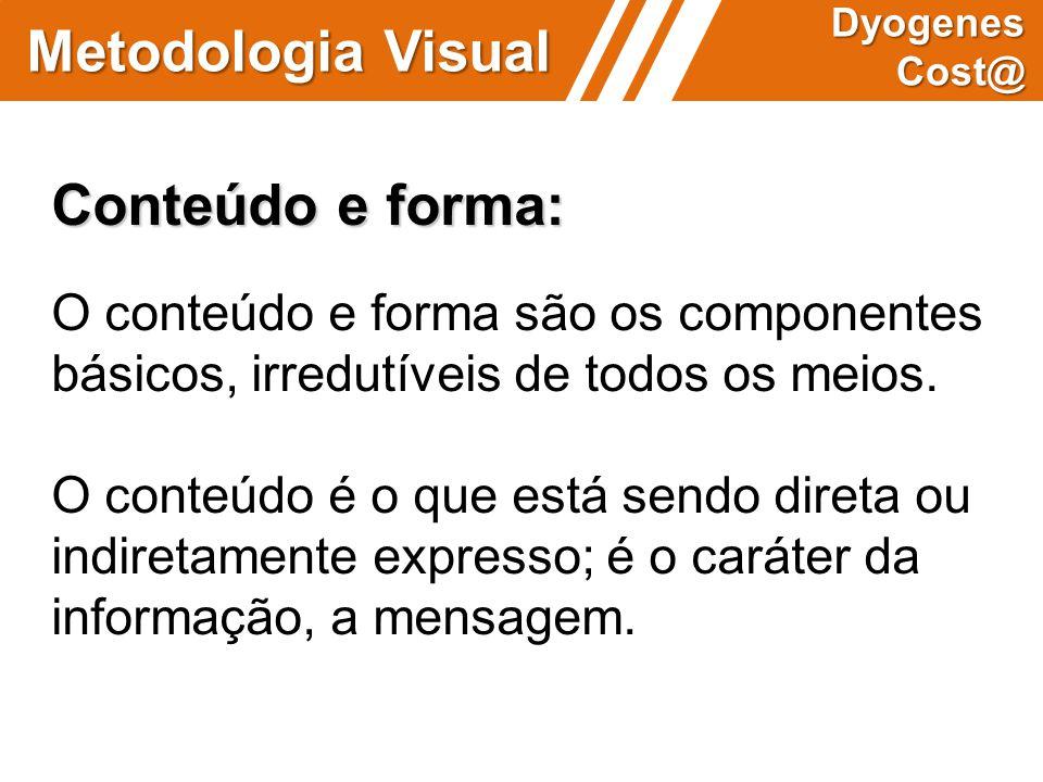 Metodologia Visual Conteúdo e forma: