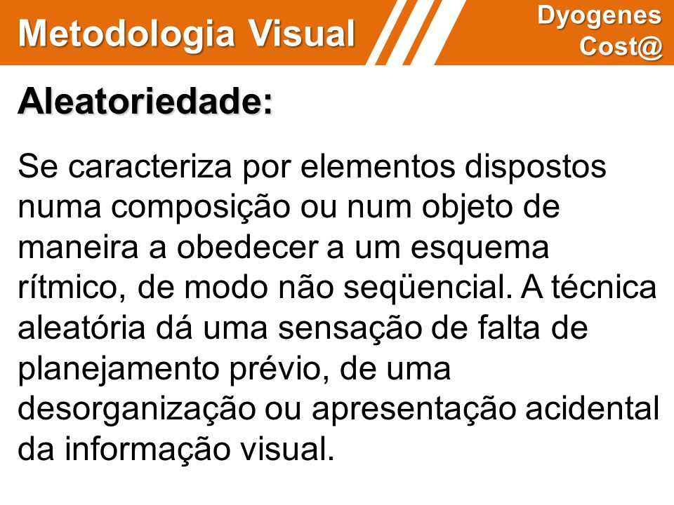 Metodologia Visual Aleatoriedade: