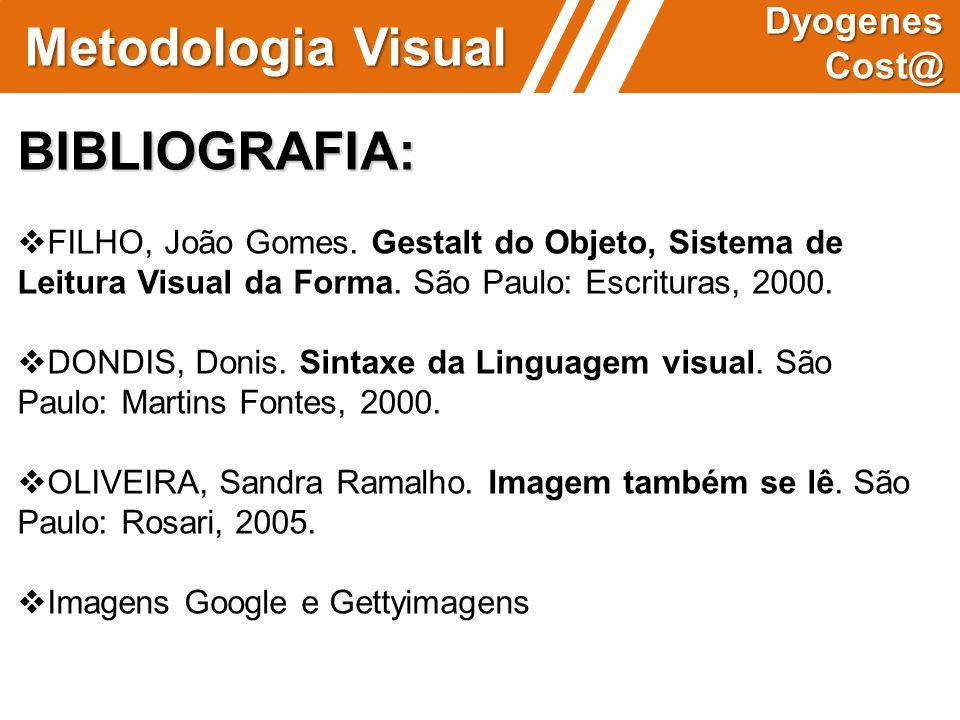 Metodologia Visual BIBLIOGRAFIA: Dyogenes Cost@