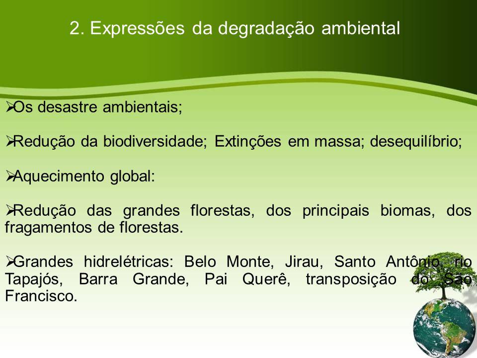 2. Expressões da degradação ambiental