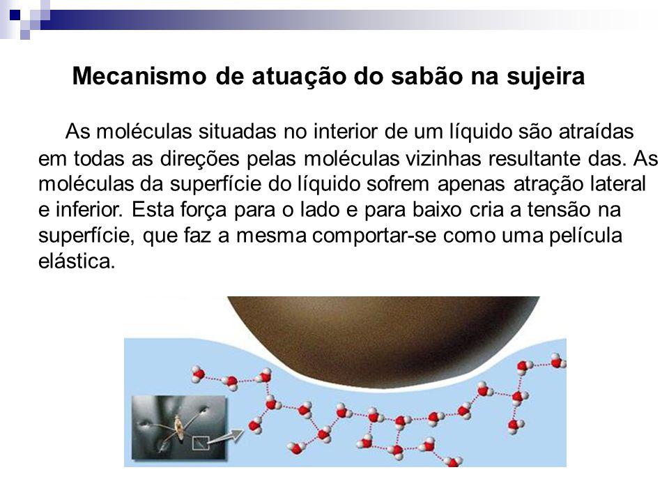 Mecanismo de atuação do sabão na sujeira