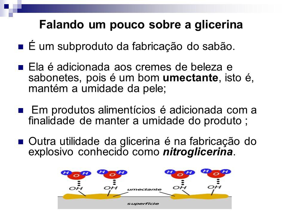 Falando um pouco sobre a glicerina