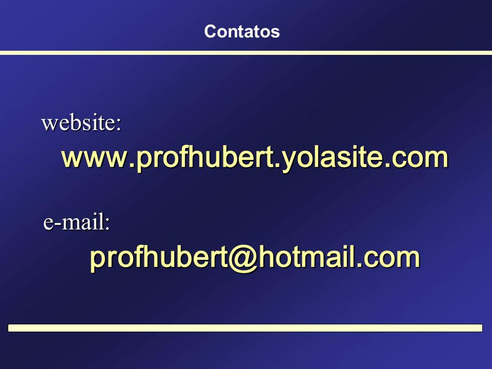 www.profhubert.yolasite.com profhubert@hotmail.com
