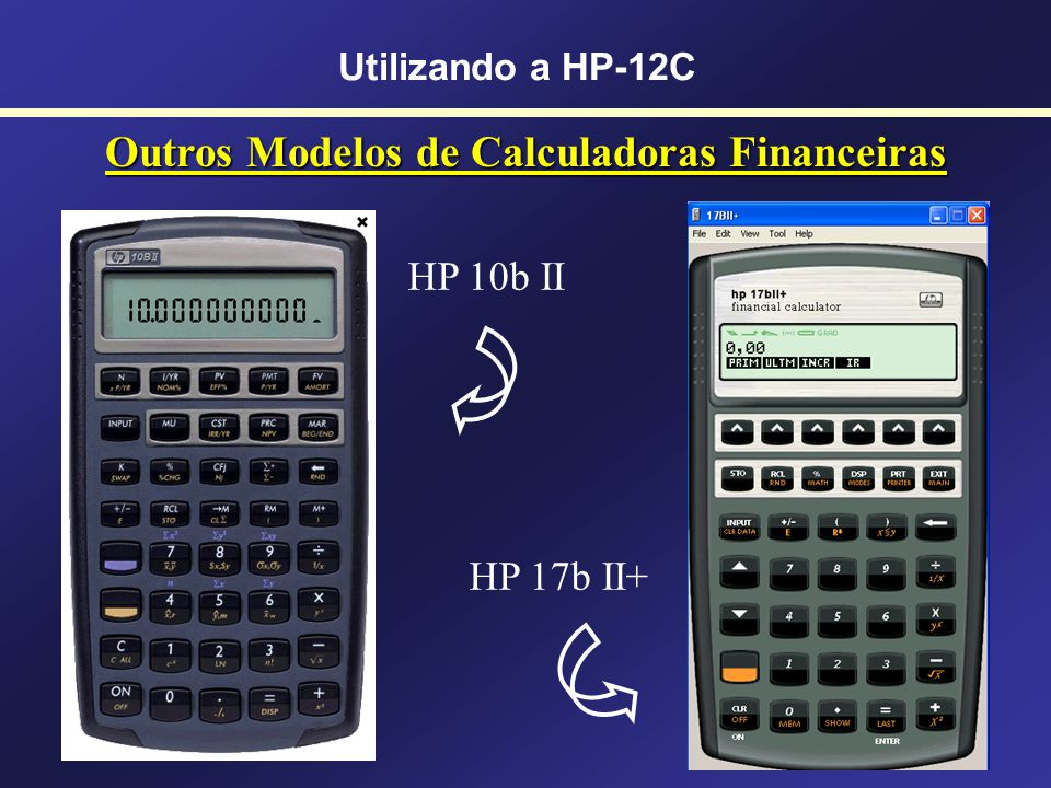 Outros Modelos de Calculadoras Financeiras