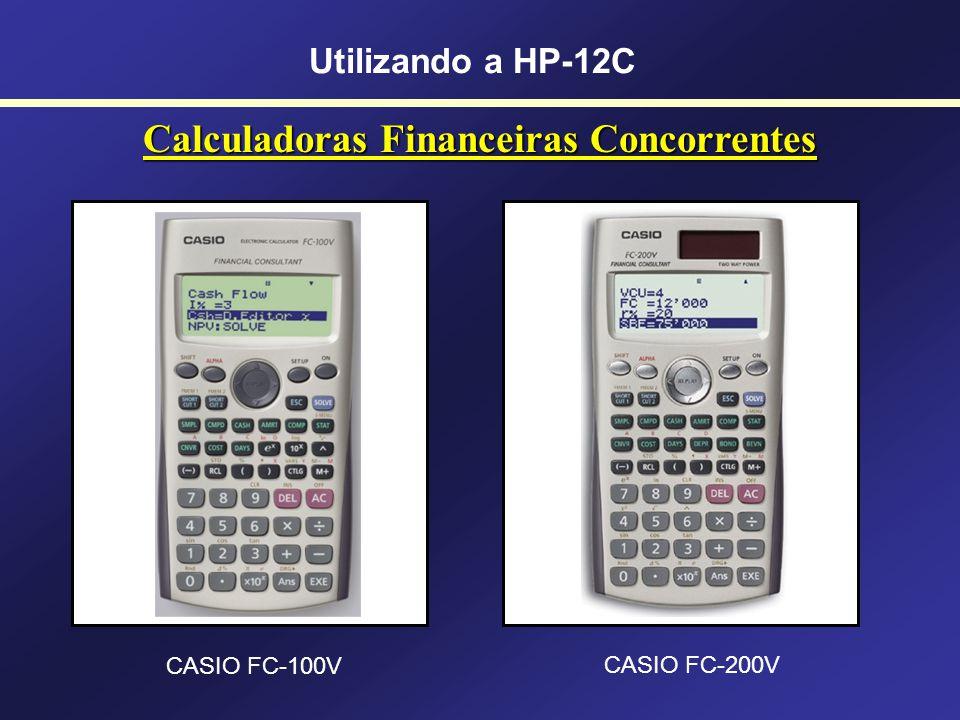 Calculadoras Financeiras Concorrentes