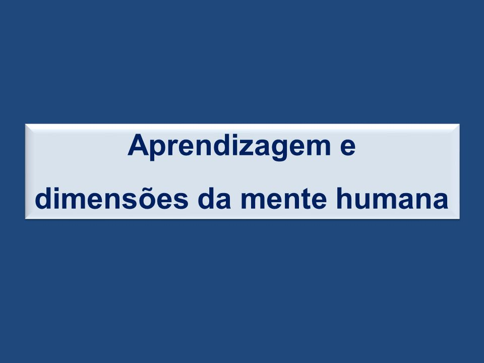 dimensões da mente humana