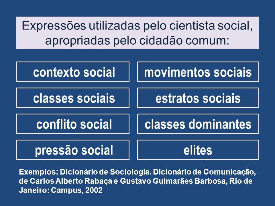 contexto social movimentos sociais classes sociais estratos sociais