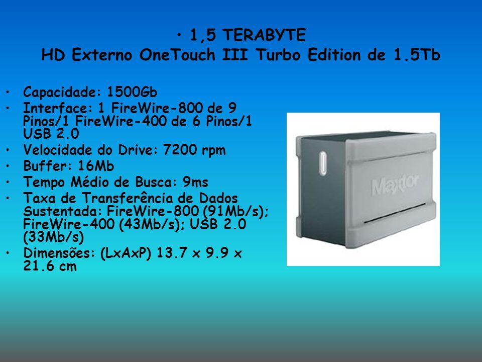 1,5 TERABYTE HD Externo OneTouch III Turbo Edition de 1.5Tb