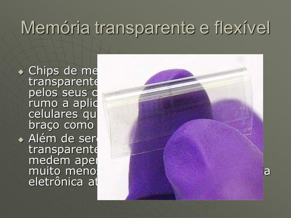 Memória transparente e flexível