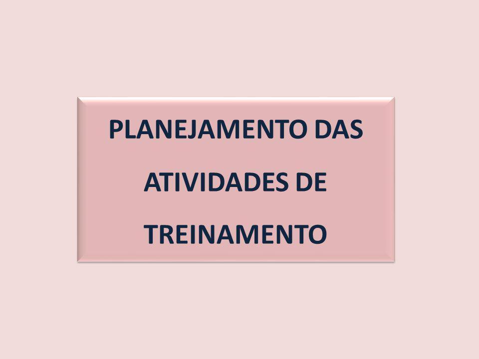 PLANEJAMENTO DAS ATIVIDADES DE TREINAMENTO