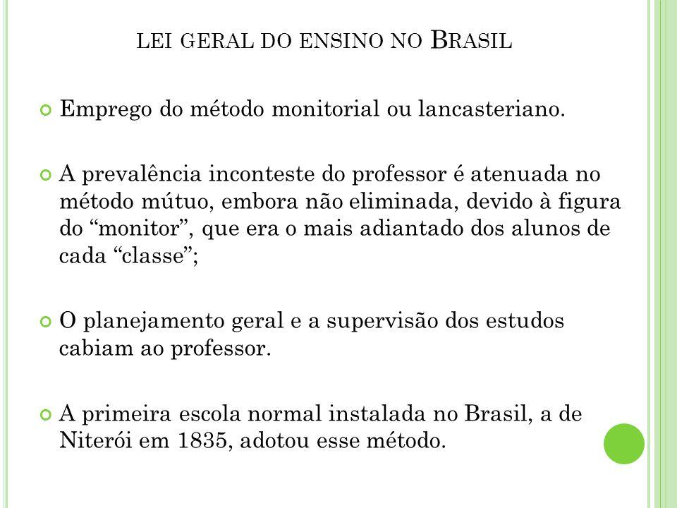 lei geral do ensino no Brasil