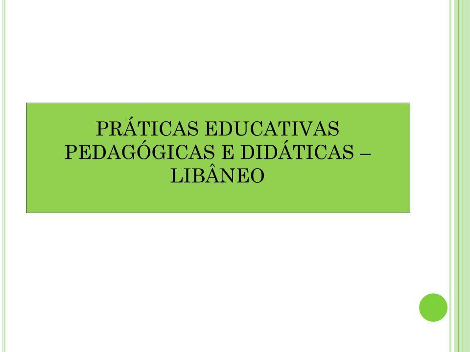 PRÁTICAS EDUCATIVAS PEDAGÓGICAS E DIDÁTICAS – LIBÂNEO
