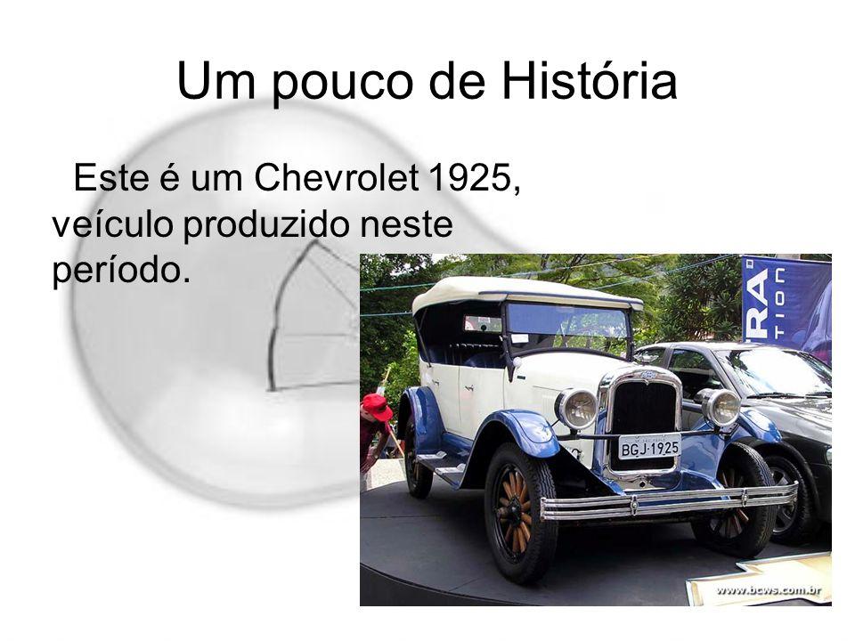 Um pouco de História Este é um Chevrolet 1925, veículo produzido neste