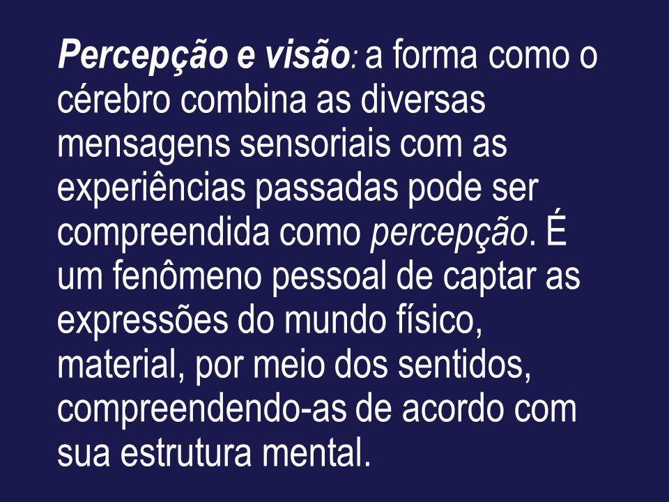 Percepção e visão: a forma como o cérebro combina as diversas mensagens sensoriais com as experiências passadas pode ser compreendida como percepção.