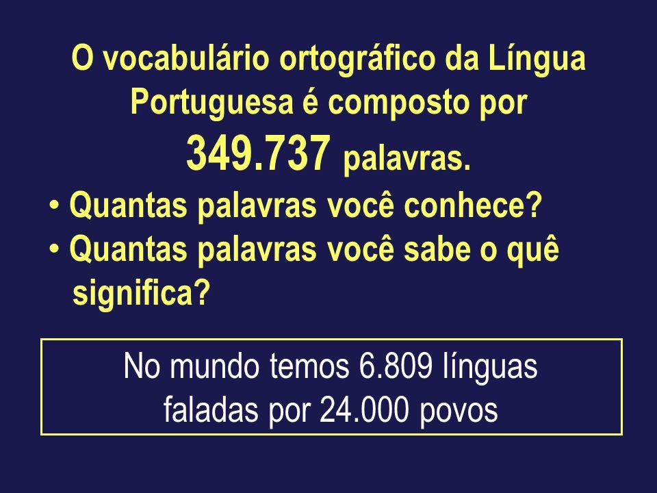 O vocabulário ortográfico da Língua Portuguesa é composto por