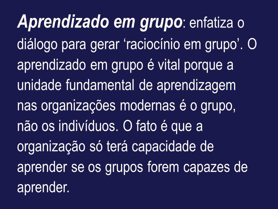 Aprendizado em grupo: enfatiza o diálogo para gerar 'raciocínio em grupo'.