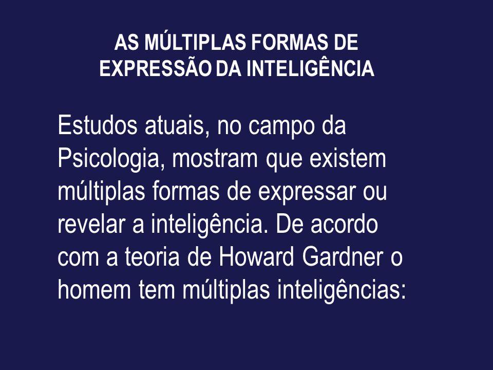 AS MÚLTIPLAS FORMAS DE EXPRESSÃO DA INTELIGÊNCIA
