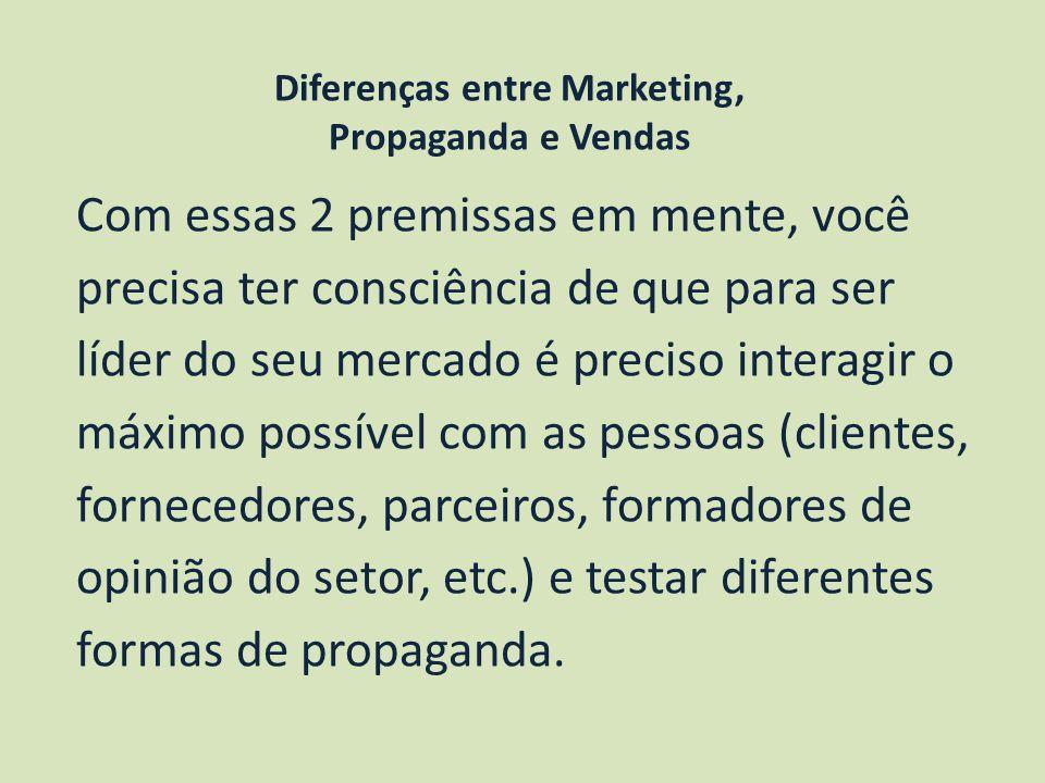 Diferenças entre Marketing,