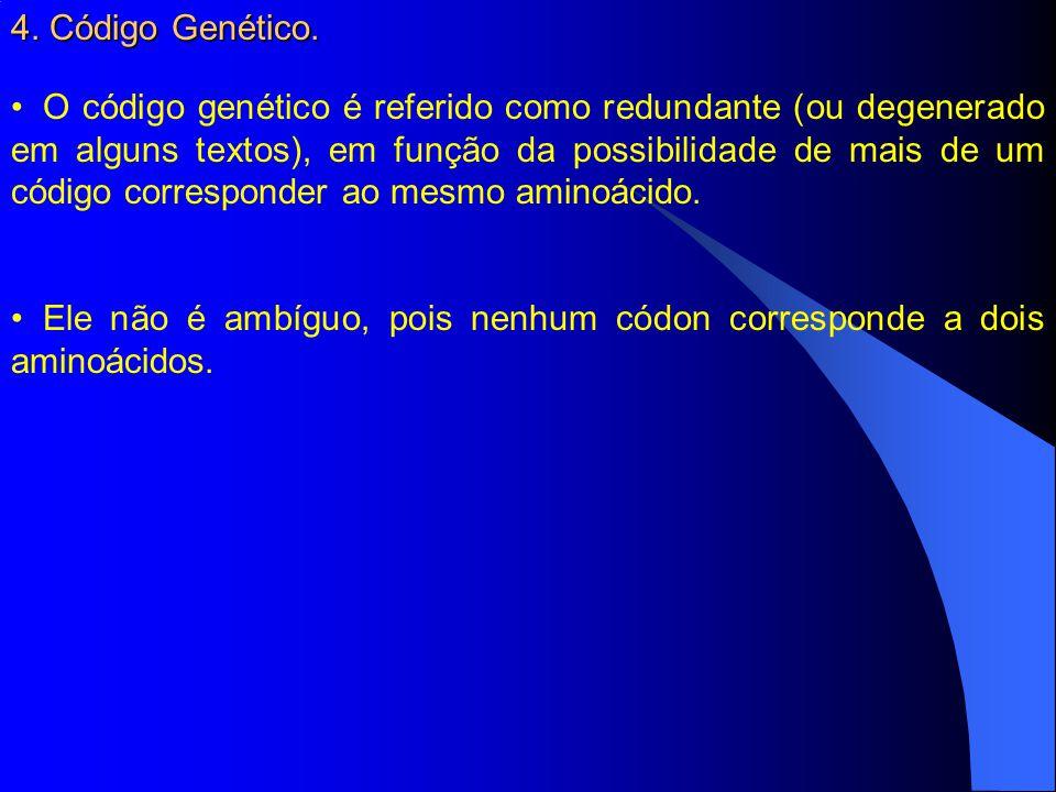 4. Código Genético.
