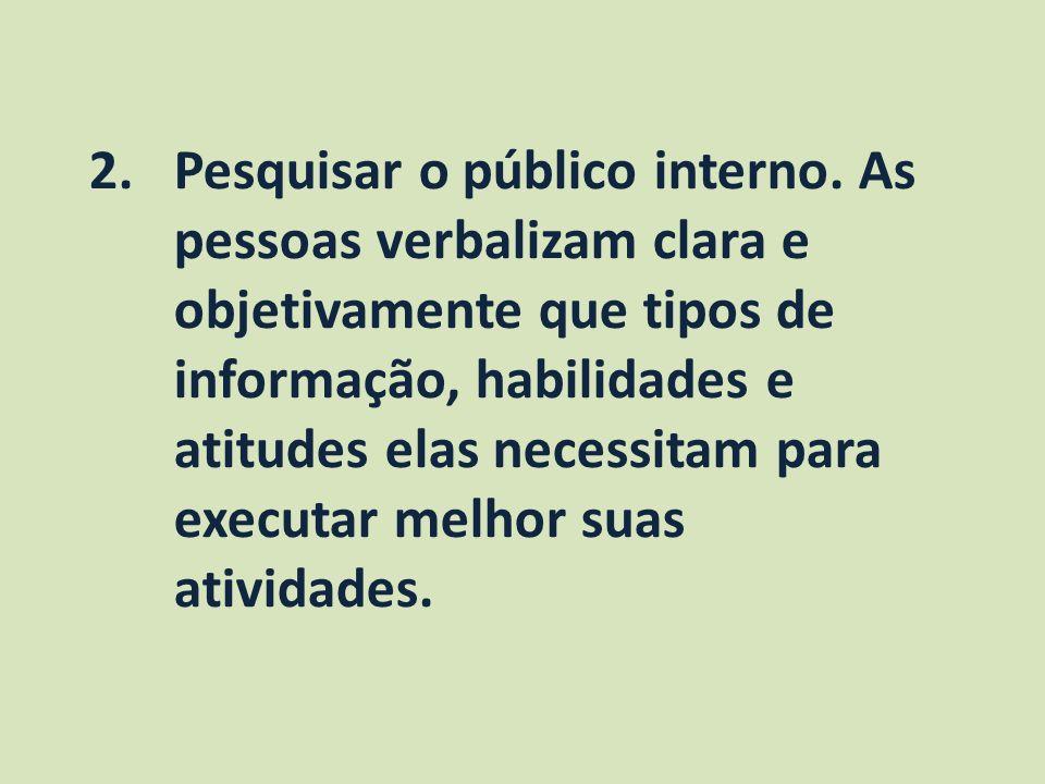 Pesquisar o público interno