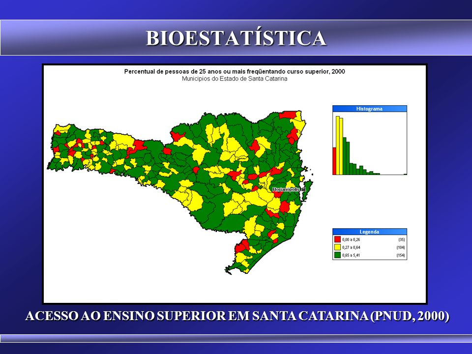 ACESSO AO ENSINO SUPERIOR EM SANTA CATARINA (PNUD, 2000)