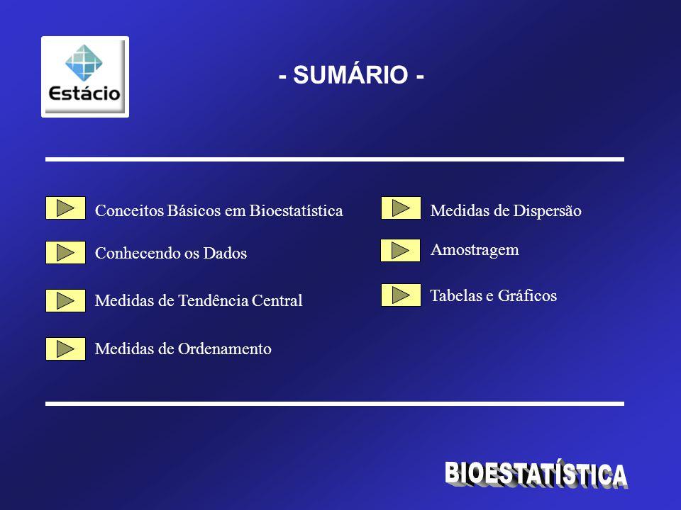 BIOESTATÍSTICA - SUMÁRIO - Conceitos Básicos em Bioestatística