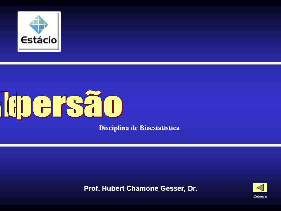 Disciplina de Bioestatística Prof. Hubert Chamone Gesser, Dr.