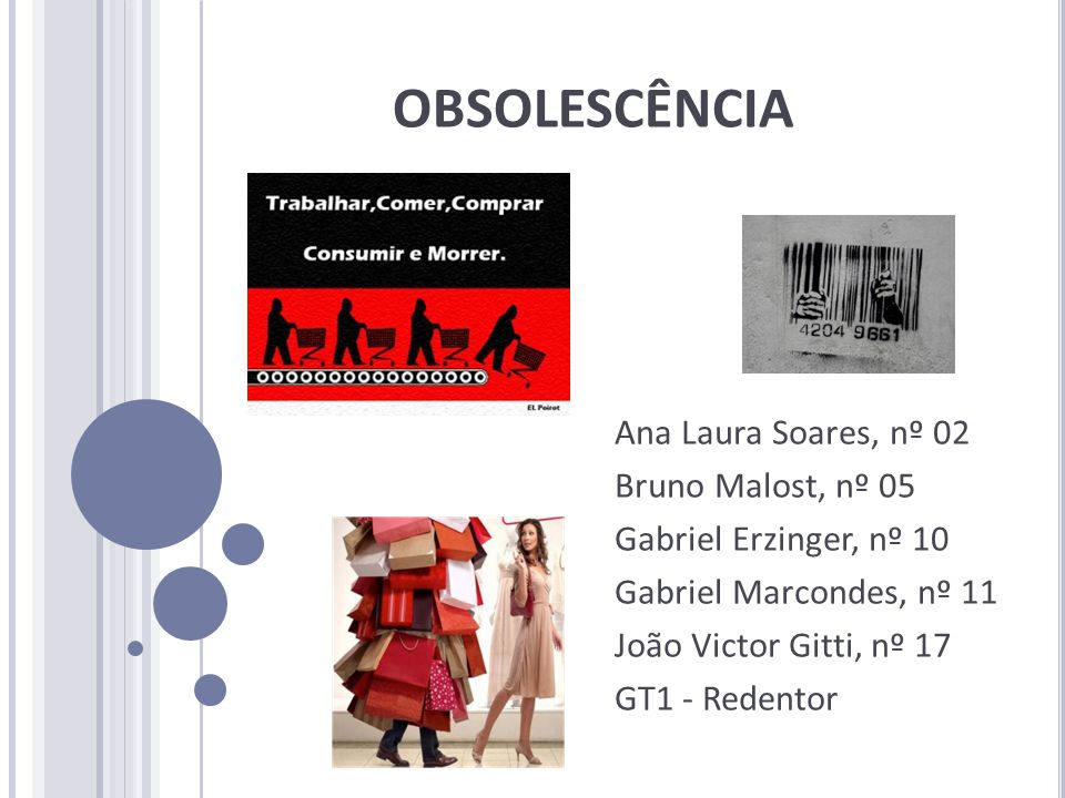 OBSOLESCÊNCIA Ana Laura Soares, nº 02 Bruno Malost, nº 05