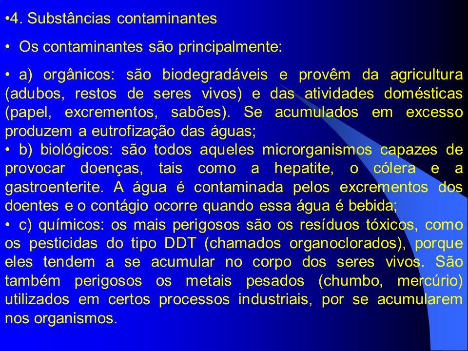 4. Substâncias contaminantes