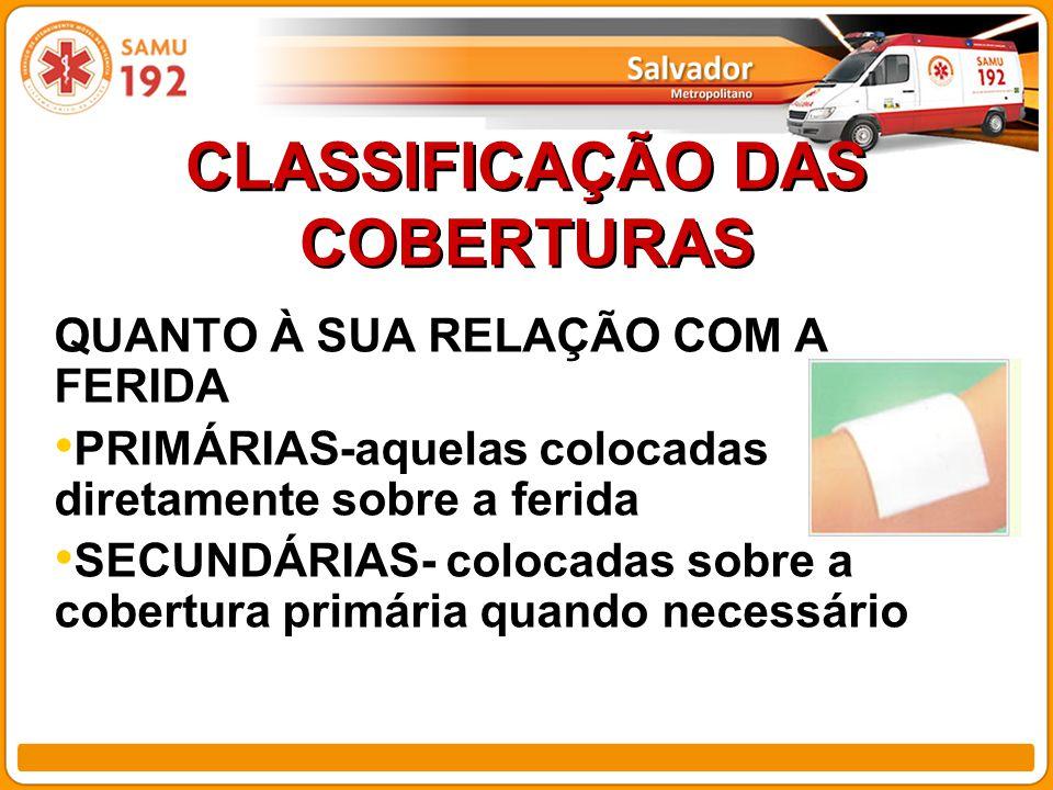 CLASSIFICAÇÃO DAS COBERTURAS