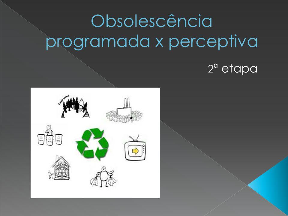 Obsolescência programada x perceptiva
