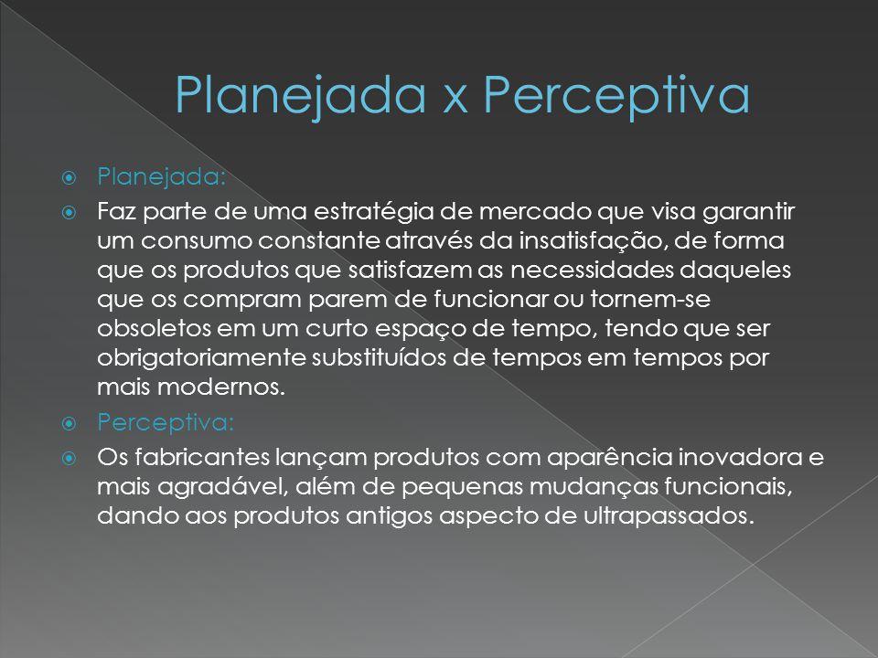Planejada x Perceptiva