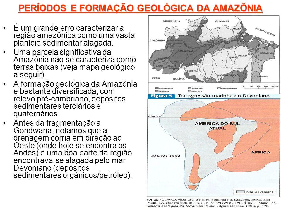 PERÍODOS E FORMAÇÃO GEOLÓGICA DA AMAZÔNIA