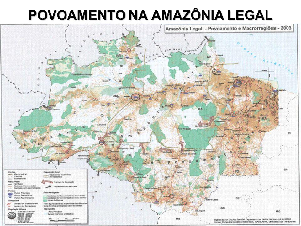 POVOAMENTO NA AMAZÔNIA LEGAL