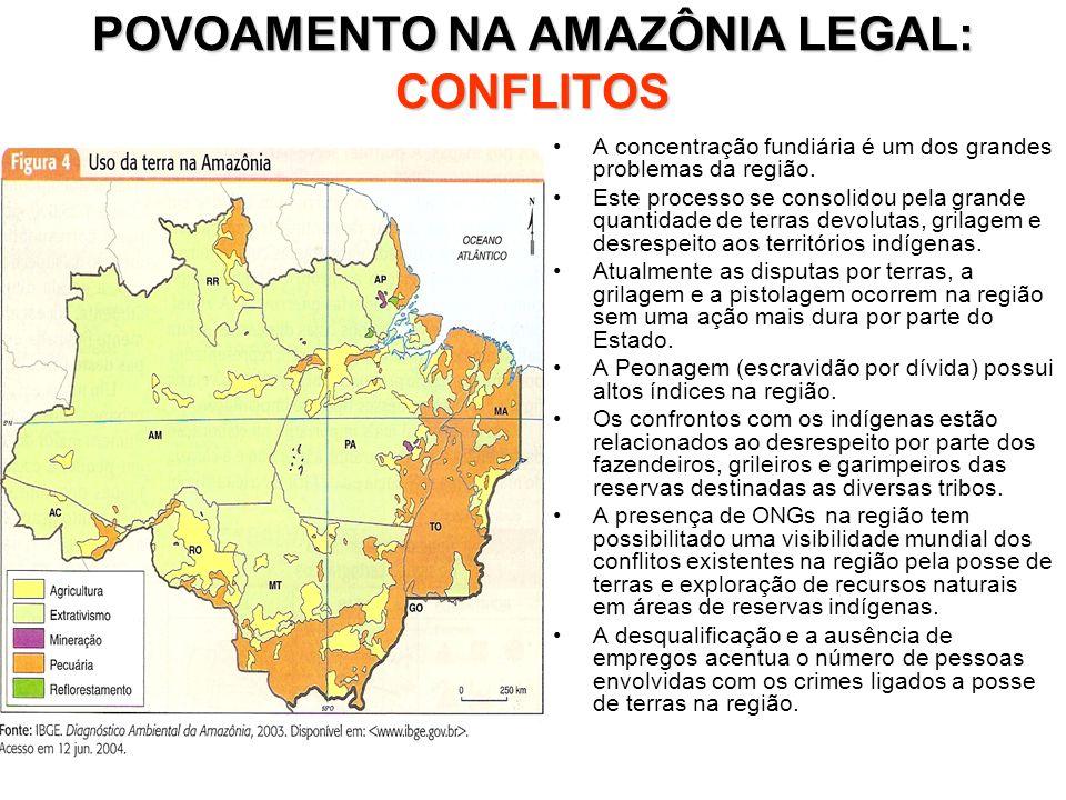 POVOAMENTO NA AMAZÔNIA LEGAL: CONFLITOS
