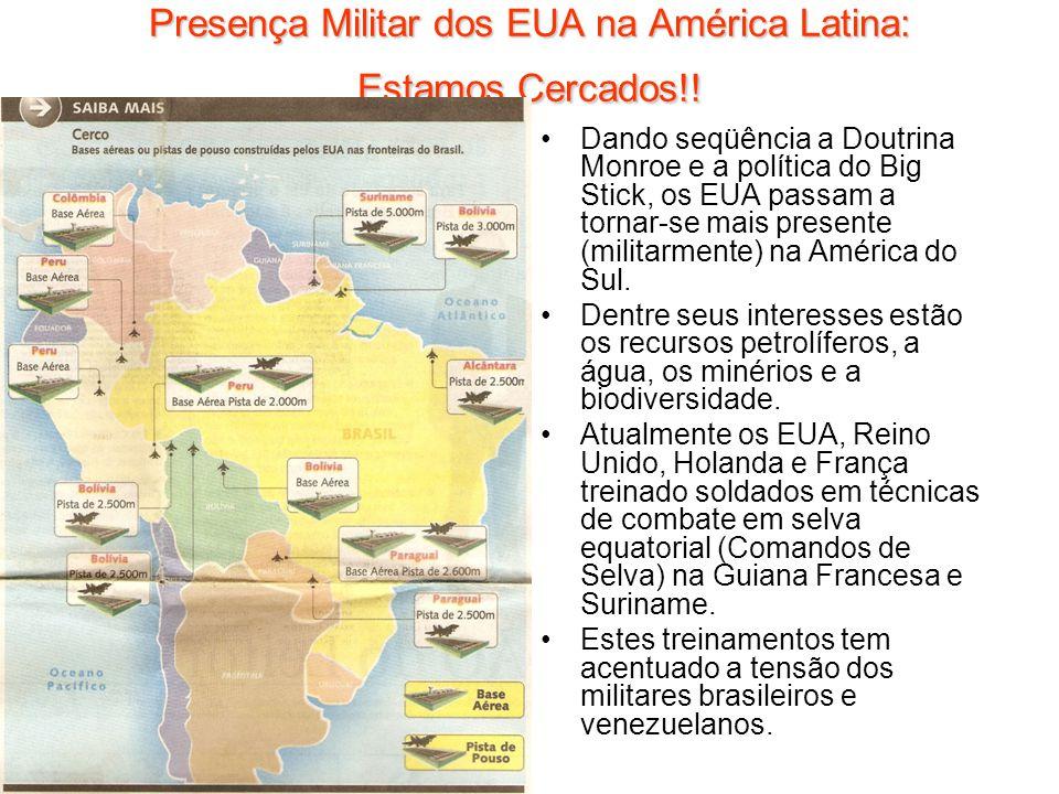 Presença Militar dos EUA na América Latina: Estamos Cercados!!