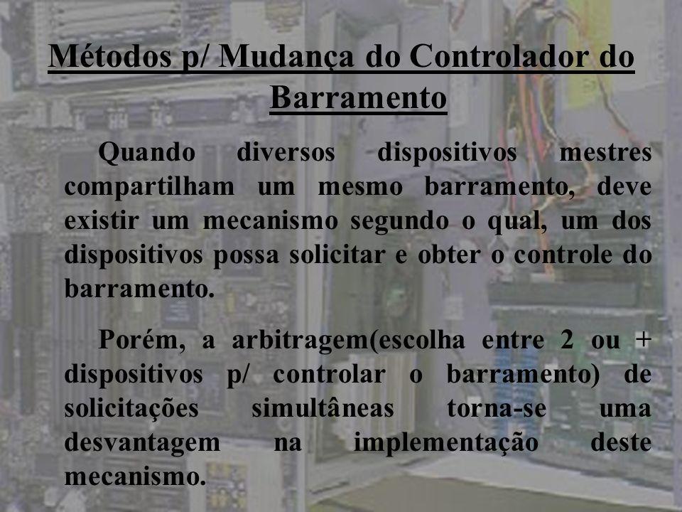 Métodos p/ Mudança do Controlador do Barramento