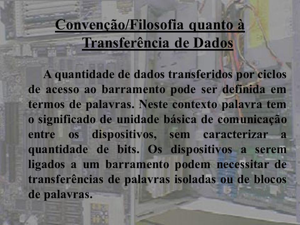 Convenção/Filosofia quanto à Transferência de Dados