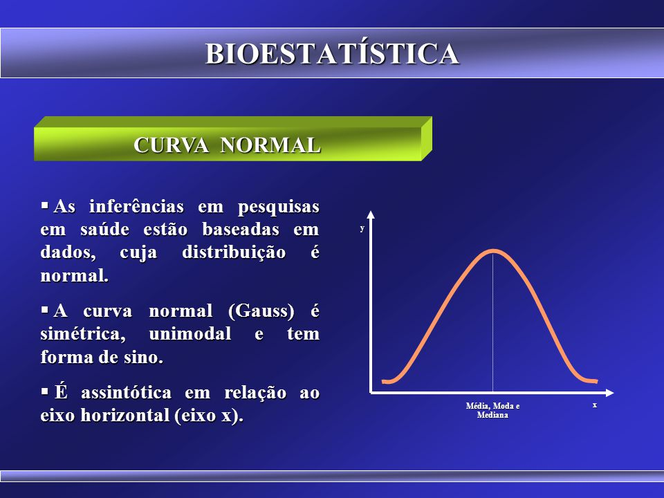 BIOESTATÍSTICA CURVA NORMAL