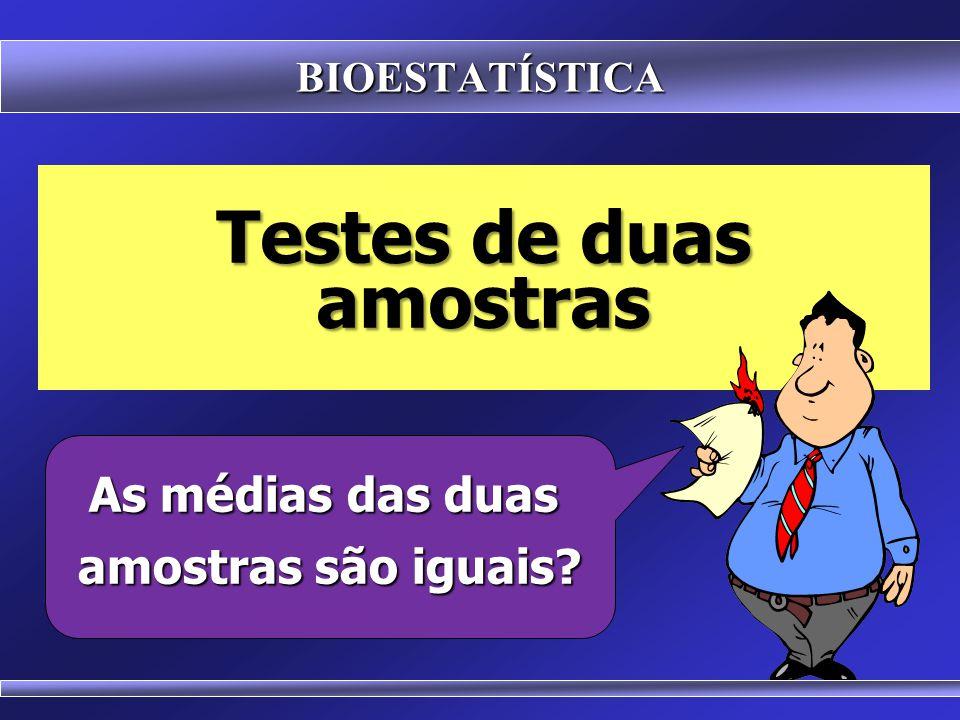 Testes de duas amostras