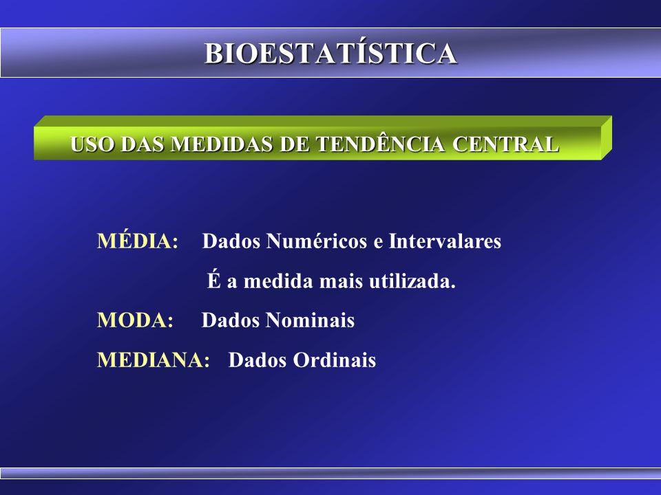 USO DAS MEDIDAS DE TENDÊNCIA CENTRAL