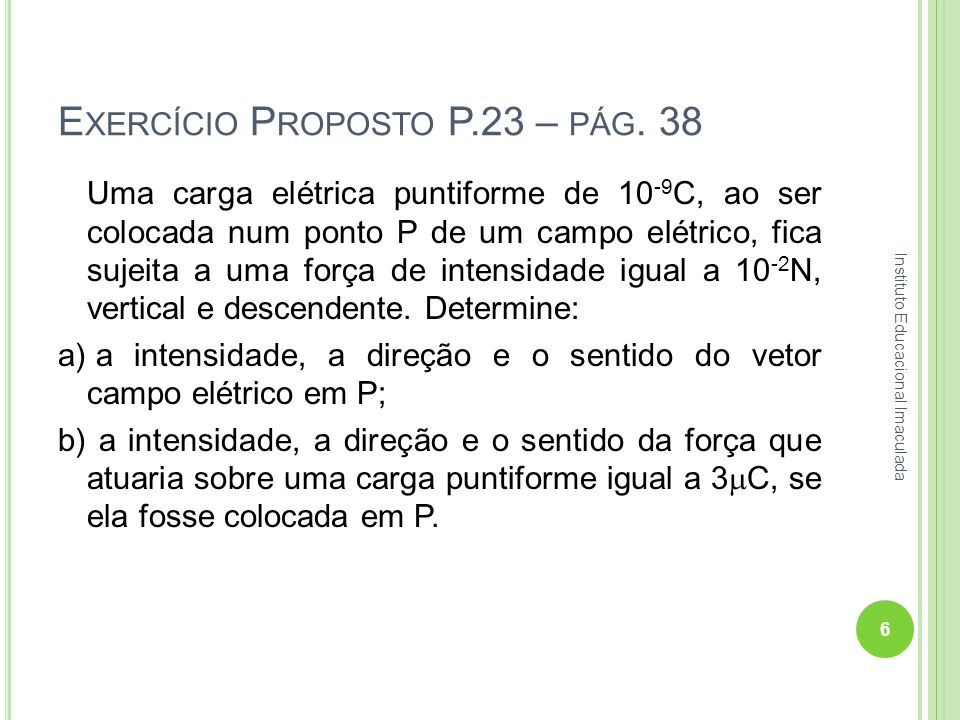 Exercício Proposto P.23 – pág. 38