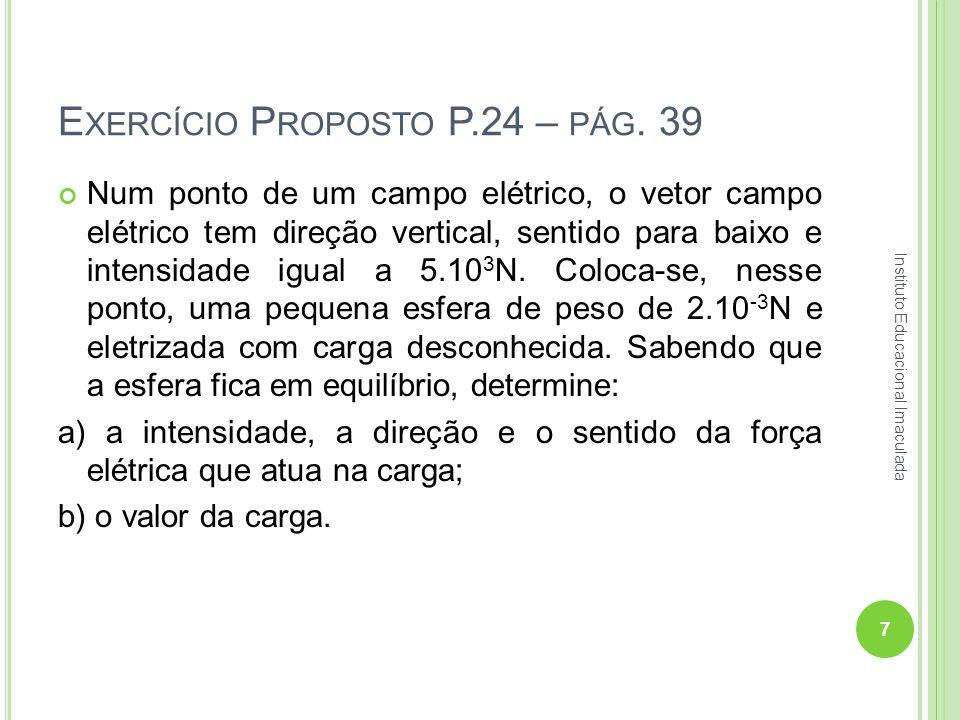 Exercício Proposto P.24 – pág. 39