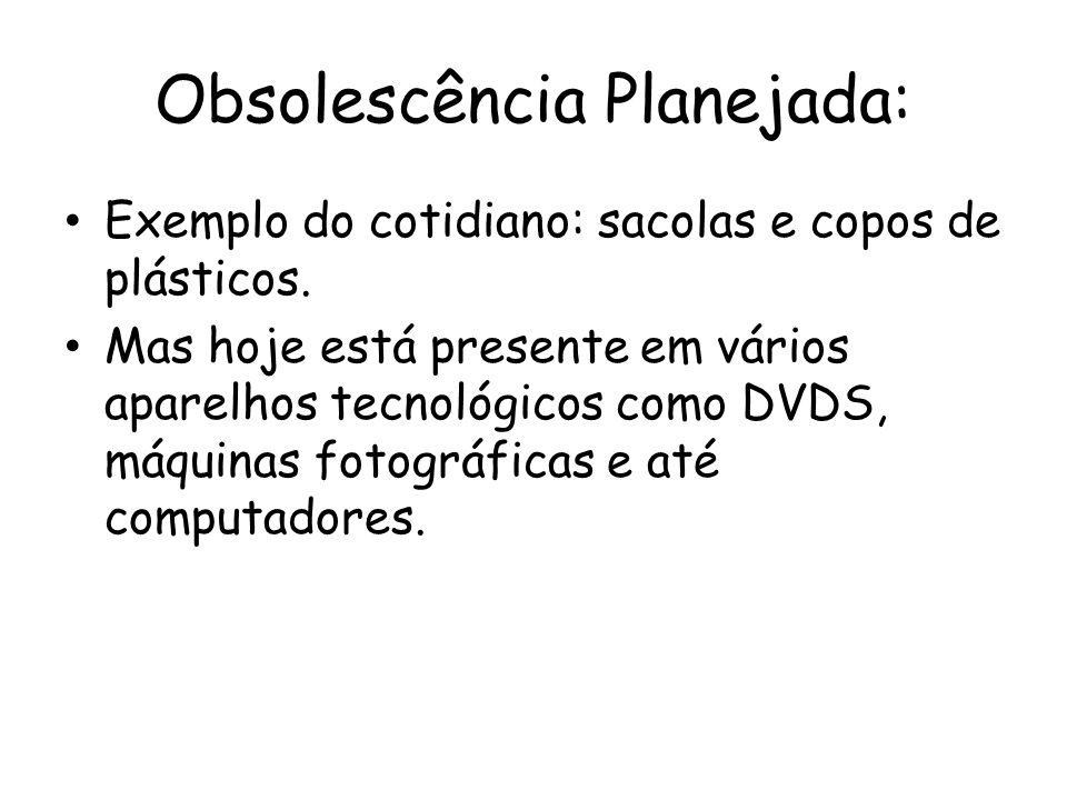 Obsolescência Planejada: