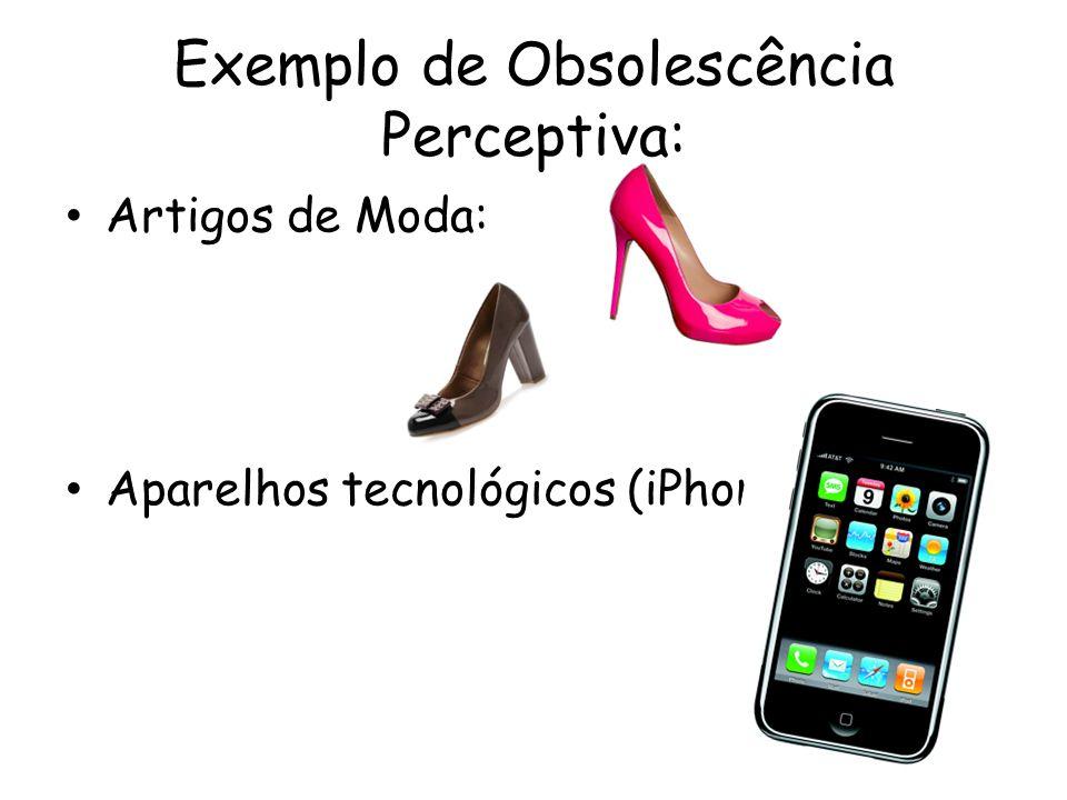 Exemplo de Obsolescência Perceptiva: