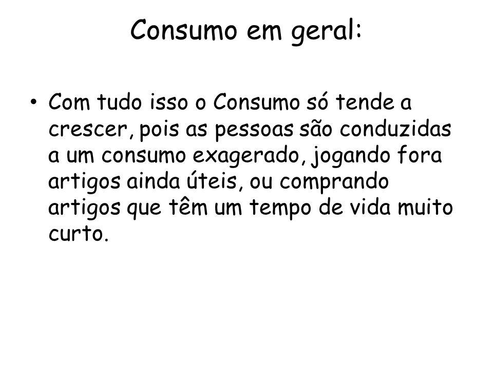 Consumo em geral: