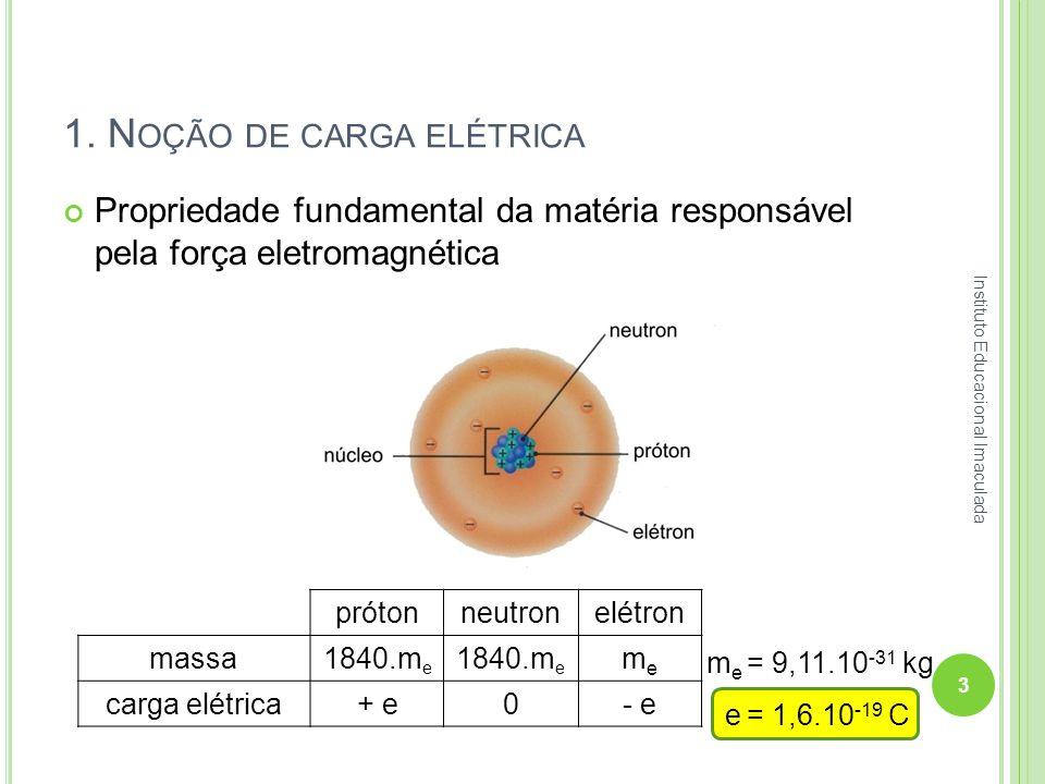1. Noção de carga elétrica